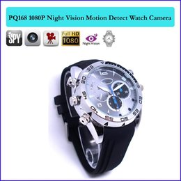 Wholesale Video Voice Recording Spy Camera - 16GB memory Full HD 1920*1080P Spy Gadgets Spy Cam Watch Watch Hidden Camera Night Vision Voice-Activated Recording Video Function PQ168B