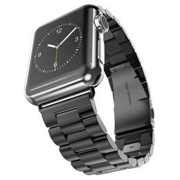 Fivela de maçã on-line-pulseira de aço inoxidável de luxo clássico fivela adaptador link pulseira faixa de relógio 42mm 38mm para a apple watch série iwatch 4 3 1/2