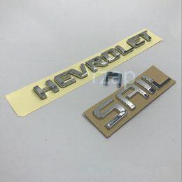 Wholesale chevrolet sail - 2pcs set For Chevrolet Sail Lettering Logo Decal Car 3D ABS Tailgate Emblem Badge Nameplate Sticker