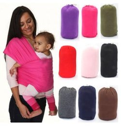 Wholesale Wrap Infant Carrier - Breastfeed Gear Sling Baby Stretchy Wrap Carrier Infant Baby Stretchy Strollers Gallus Kids Breastfeeding Sling Hipseat Backpacks J481