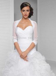 Wholesale Long Red Wedding Cloak - 2017 Simple Wedding Bridal Bolero Jackets Tulle Waist Length White Ivory Custom Made Wedding Cloaks Wraps Capes
