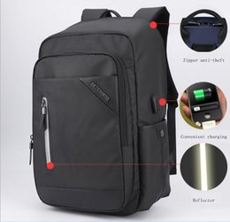 Wholesale Macbook 13 Inch Waterproof - 2017 new casual men's backpack 15.6 inch college students gift laptop bag USB charging interface breathable waterproof