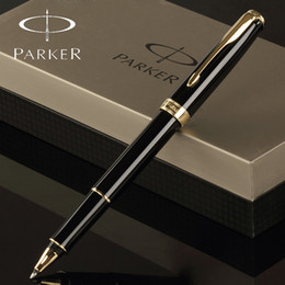 Wholesale 8 Colors Parker Pen Roller Ball Pen Stationery Silver Gold Clip Business Parker Sonnet rollerball Pen High Quality Writing Supplies