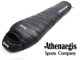 Wholesale Nylon Sleeping Bags - Wholesale- Athenaegis 1200G white goose down filling can be spliced mummy ultra-light goose down sleeping bag