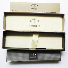 Wholesale Parker Case - Wholesale-Original Parker fountain Pen Box Pencil case refill as gift stationery pack Office School Supplies