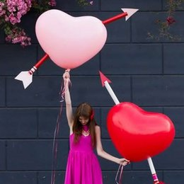 Wholesale Latex Heart Shaped Balloons - 2PCS 36 Inch Jumbo Heart Shaped Latex Balloon Lover Romantic Wedding Anniversary Party Valentines' Decoration Air Balloons