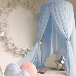 Wholesale Sleep Crib - Baby Crib Netting Princess Dome Bed Canopy Childrens Bedding Round Lace Mosquito Net For Baby Sleeping 7 Colors WZ77