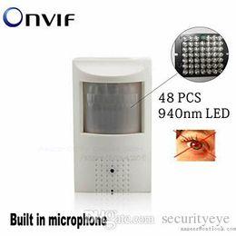Wholesale Pir Mp - Full HD 1080P Security Pir Network Camera Covert Audio Nightvision PIR IR IP Camera Mini PIR Motion Detector Hide Pinhole Camera
