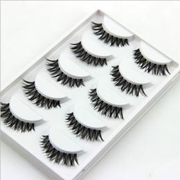 10 коробки макияж красоты накладные ресницы расширение длинные толстые поперечные полосы ресницы полный ручной человеческих волос от