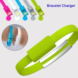 Wholesale Micro Usb Charging Bracelet - 2017 Bracelet Hand Wrist Data Sync Charger Charging Type C USB Cable Fast Charging Portable Usb Charger Cable CAB184