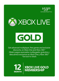 Wholesale Month Code - XBOX ONE LIVE Gold Member Card 12 Months Worldwide use Official Redemption Code Genuine Gold Card
