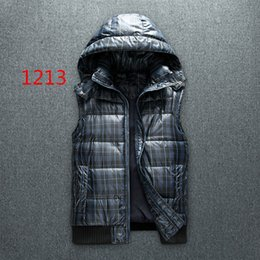 Wholesale Down Vest Xxl - Free send Men PoLo cotton wool collar hooded down vests sleeveless jackets plus size quilted vests Men PAUL vests outerwear,S-XXL