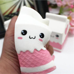 Wholesale Wholesale Plastic Milk Bottle - Cute Soft Charms Milk Bag Bottle Toy Slow Rising for Children Adults Relieves Stress Anxiety Cabinet Decor