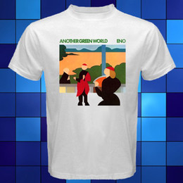 Wholesale Eno Music - T-shirt Brand 2017 Male Short Sleeve BRIAN ENO Another Green World Music Legend White T-Shirt Size S M L XL 2XL 3XL