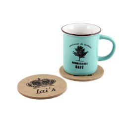 Wholesale Coaster Cork - New cork wooden Coffee mat   Cup Coaster   Tea Mat & pads   Novelty households Table Pot Coaster Crochet WA1434