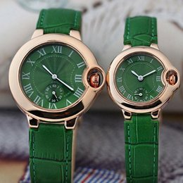 Wholesale Mens Dress Watch Brown Leather - New Arrival Lovers Couple women men Watches Luxury Top Brand Dress watches Leather Strap Quartz Wristwatch for Mens Ladies Valentine Gift
