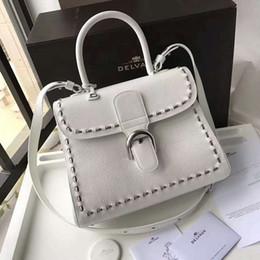 Wholesale Handmade Phone - 37 Colors White Color Hand Bag Shoulder Bag Handmade Brand Bags Top Quality Luxury Women Fashion Delvaux Brillant Bag