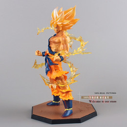 Wholesale Bullet Action - toy bullet Free Shipping Anime Dragon Ball Z Super Saiyan Son Goku PVC Action Figure Collectible Toy 17CM DBFG071