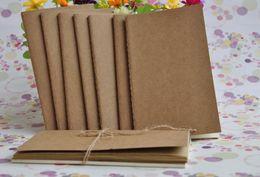 Wholesale Slimming Blanker - Cowhide paper notebook blank notepad book vintage soft copybook daily memos Kraft cover journal Calendar free shipping