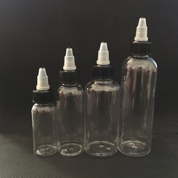 Wholesale Wholesale Pet Pens - 30ml 50ml 60ml 100ml 120ml Plastic Dropper Bottles With Twist Off Caps Pen Shape Unicorn Bottle Empty PET Bottles For E Liquid