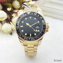 Wholesale Camel Gifts - 44mm automatic date calendar luxury fashion Gold and silver bracelet of the alloy steel belt movement quartz master clock man gifts