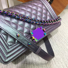 Wholesale Genuine Alligator - Fashion Famous Brand new Women Gabrielle Luxury Handbags Le Boy Designer Shoulder Bag Rainbow chain crossbody 67086