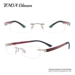 Wholesale Wholesale Colorful Optical Frames - Wholesale- Fashion TR90 Lightweight Rimless Eyeglasses Men & Women Colorful TR90 Optical Eyewear Frames For Prescription Lenses