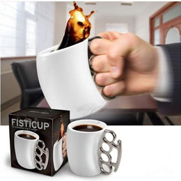 Wholesale Ceramic Drink Cup - Ceramic Mug Creative Personality Boxing Coffee Beer Drinking Cup Bar Novelty Gift Fist Mugs Simple Style Hot 10 8zf F