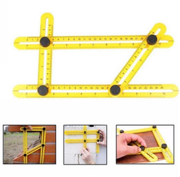 Wholesale Form Plastic - Angle-izer Angle Measure Multi-Angle Ruler Template Tool Measures All Angles Forms Angle-izer for Handymen Builders Craftsmen Repetitive