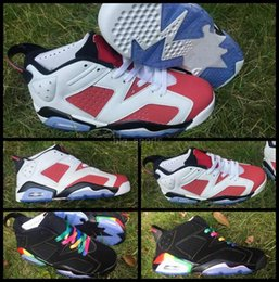 Wholesale Colorful Sneakers For Women - 2016 Air Retro 6 VI Basketball Shoes For Women Men Low Black colorful AAA Quality Athletic Sport Shoes Mens Retros 6s Trainers Sneakers