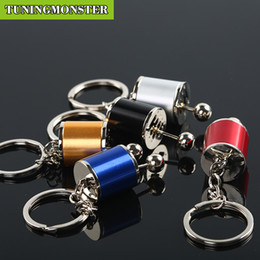 Wholesale Chain Speed - 5PCS Lot Six Speed Removable Transmission Gear Shift Gearshift Knob Gearbox Keychain Keyring Key Chain Keyfob Mini Zinc Alloy Car Truck