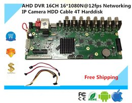 Wholesale Hdd Mobile Dvr - AHD DVR 16CH 16*1080N@12fps Networking IP Camera HDD Cable 4T Harddisk Support P2P mobile survillance XMEYE CMS AHB7016T-LM-V3