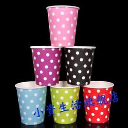 Wholesale Wholesale Polka Dot Items - Wholesale-CU01 30pcs 9OZ Paper Drinking Cups, Party Items Paper Cups, Polka Dots Party Cups For Kids Birthday Party Decoration