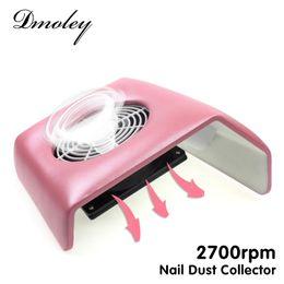 Wholesale Manicure Vacuum - Wholesale- 220V Nail Art Salon Suction Dust Collector Manicure 2700Rpm Filing Acrylic UV Gel Tip Machine Vacuum Cleaner Salon Tool EU Plug