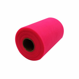 Рулоны из ткани онлайн-Wholesale- 26 Colors Pick Wedding C-Tulle Roll 6inch*100yard Tulle Roll Spool Fabric Tutu DIY Skirt Gift Craft Party Bow Tulle Rolls
