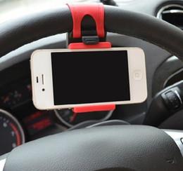 suporte de direção de carro Desconto Suporte ajustável do suporte do painel do suporte do GPS do suporte do telefone do volante do carro