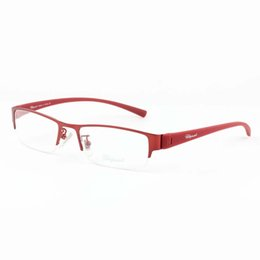 Wholesale Spectacle Frames Lady - 2017 Oval Vintage Cat Girls Eye Eyewear Frames Optical Myopia Clear Lens Wine Metal Reading Glasses Frame Female Ladies Spectacle Wholesale
