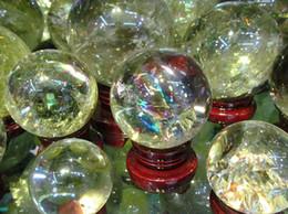 Wholesale Gemstones Stone Cabochon - Wholesale yellowish Gemstone Amethyst Rock Rose Quartz Crystal Sphere - Hand Carved Gem Stone Ball for Crystal Cabochon Rock 20-80mm