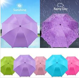 Wholesale Wholesale Flower Umbrella - Lady Princess Magic Flowers Dome Parasol Sun Rain Folding Umbrella Windproof Sunscreen Magic Flower Umbrella KKA2132