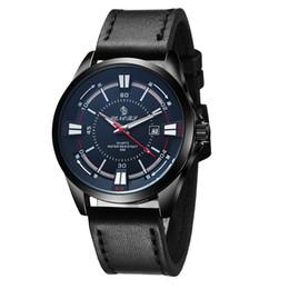 Wholesale Men Watches Bulk - Have In Stock Custom Your Logo Quartz Watches Men Leather 2017 New Fashion Top In Bulk