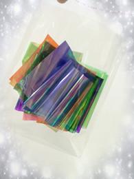 Wholesale Nail Foils Light - Wholesale- 18 Color  lot Holographic Foil Paper Stickers For Nail Art Wraps Beauty Decoration Broken Glass Nail Transfer Foil Accessories
