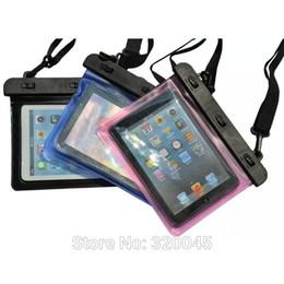 Retina tablet china on-line-7 polegada universal saco à prova d 'água para ipad mini retina 10 metros bolsa de mergulho para ipad mini3 tablet pc caso nadar escudo protetor