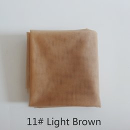 Wholesale Lace Closure Cap - 1 yard light brown swiss lace for wig making and wig caps lace wigs material or lace closure, 5 color available high quality