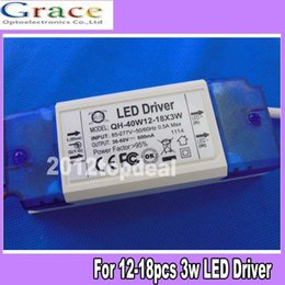 Wholesale 3w Power Led Driver - Constant Current Driver for 12-18pcs 3W High Power LED AC85-265V 40w 600mA
