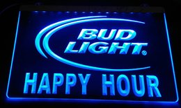 Wholesale Happy Hour Signs - LS2453-b Happy Hour Bud Light LED Neon Light Sign Decor Free Shipping Dropshipping Wholesale 6 colors to choose