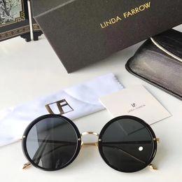 Wholesale linda farrow - LINDA FARROW The Row Black Round Frame Sunglasses Fashion sunglasses Eyewear Brand New with Leather Case