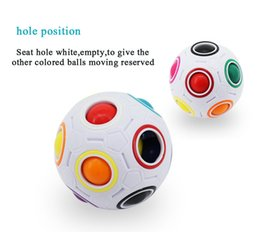 Wholesale Fantasy Puzzle - Infinite Rainbow White Football Spherical Ball Shaped Magic Cube Speed Puzzle Toy Kids Educational Learning Toys games for Children 2017 New