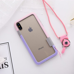 Wholesale Frames Clips - Ultra Slim Shockproof Candy color TPU Soft Frame Bumper Case for Apple iPhone X Mobile Phone Bumper 8 colors Capa