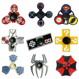 Wholesale Cartoon Super Heroes - Metal Cartoon Fidget Spinners Super Mario Resident Evil Zalda Super Heroes Anime Hand Spinner Zinc Alloy Spinners Decompression Toy