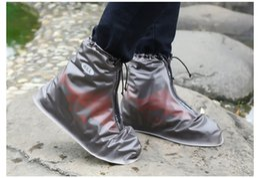 Donne resistenti alle scivolature online-Copriscarpe impermeabili Copriscarpe Scarpe da donna Copriscarpe riutilizzabili Copriscarpe piatte Resistenti allo scivolamento